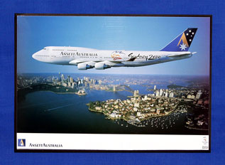 OLYMPIC AIRCRAFT POSTER (B747-400, VH-ANA)